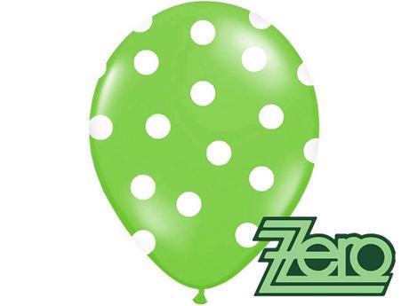 Balónky nafukovací Ø 36cm (5ks) - zelené s puntíky,