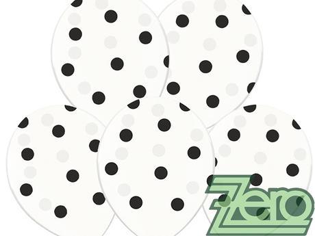 Balónky nafukovací Ø36cm (5ks) - transp. s puntíky,
