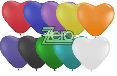 Balónky nafukovací srdce Ø 25 cm (20 ks) - mix,