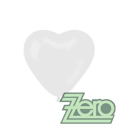 Balónky nafukovací srdce Ø 25 cm (50 ks) - bílé,