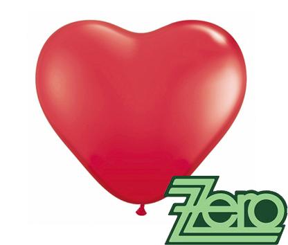 Balónky nafukovací srdce Ø 25 cm (50 ks) - červené,