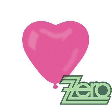 Balónky nafukovací srdce Ø 25 cm (50 ks) - fuchsie,