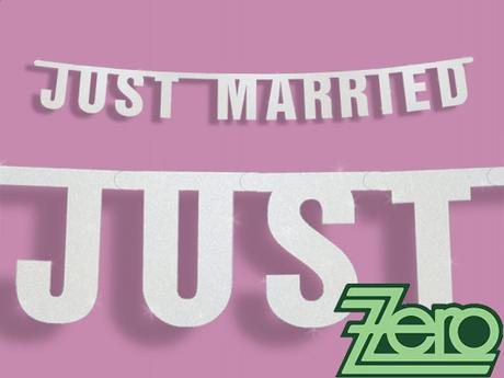 "Baner svatební ""Just Married"" 16 x 170 cm      ,"