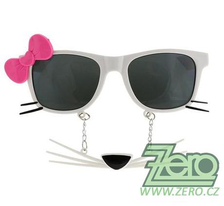 """Brýle párty """"kočka s mašlí"""","""