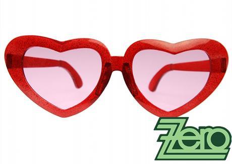 """Brýle párty """"mega srdce"""" - červené,"""