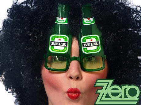 """Brýle párty """"pivo"""" - zelené,"""