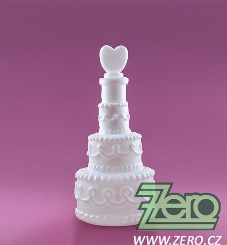 Bublifuk ve tvaru svatebního dortu se srdíčkem,