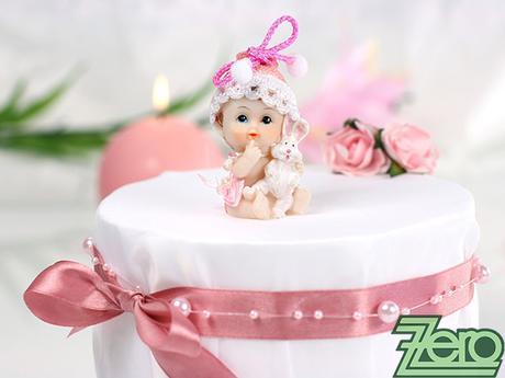 """Figurka na dort """"holčička se zajícem"""","""
