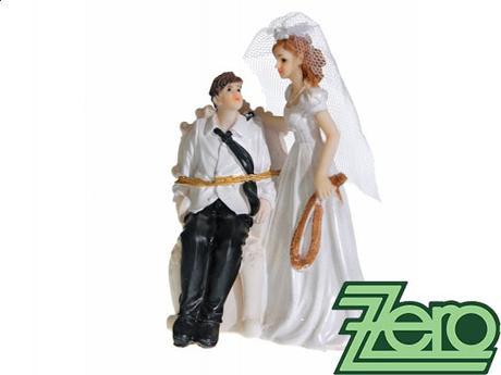 "Figurka na dort ""novomanželé"","