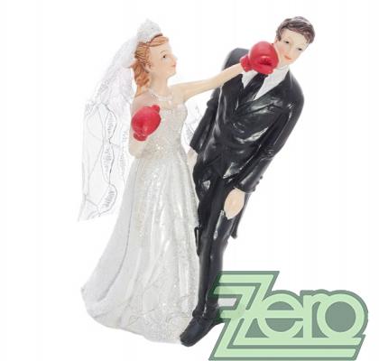 """Figurka na dort """"novomanželé na boxu"""","""