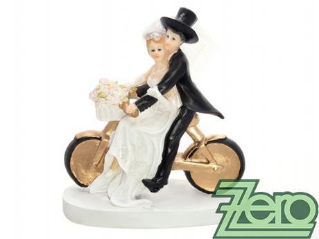 """Figurka na dort """"novomanželé na kole"""","""