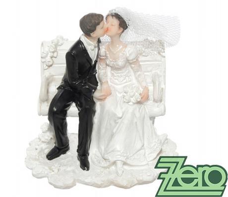 """Figurka na dort """"novomanželé na lavičce"""","""