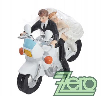 "Figurka na dort ""novomanželé na motorce"","