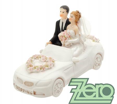 """Figurka na dort """"novomanželé v autě"""","""