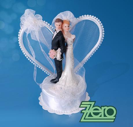 """Figurka na dort """"novomanželé v objetí"""","""