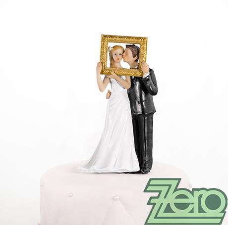 """Figurka na dort """"novomanželé"""" v obraze,"""