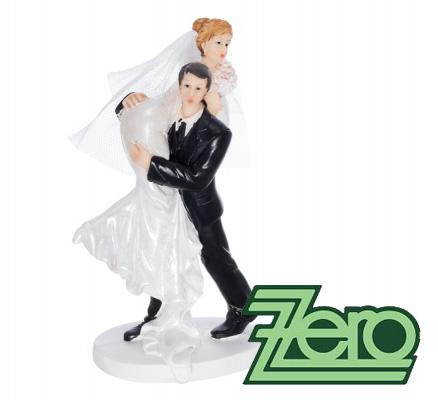 """Figurka na dort """"ženich unášející nevěstu"""","""