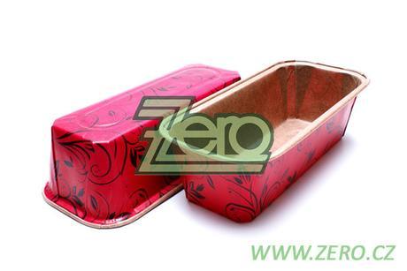 Forma papírová samonosná na pečení 5 ks - červená,