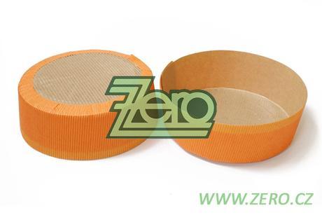 Forma papírová samonosná na pečení 5 ks - oranžová,