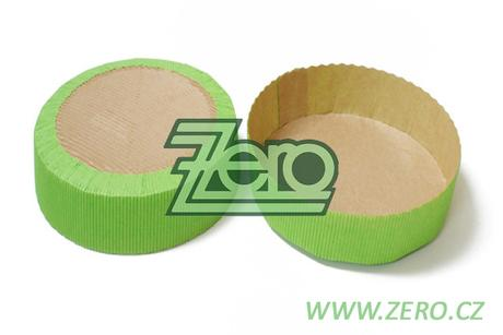 Forma papírová samonosná na pečení 5 ks - zelená,