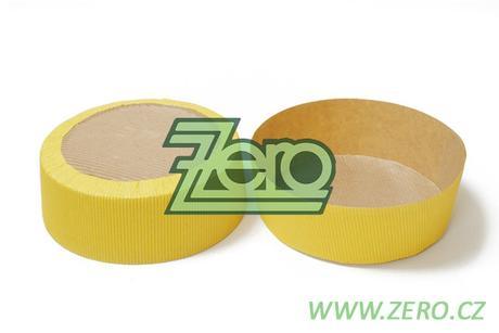 Forma papírová samonosná na pečení 5 ks -žlutá,