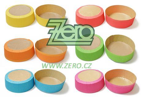 Forma papírová samonosná na pečení 6ks - mix barev,