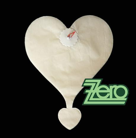 Girlanda papírová 4 m - srdce bílé,