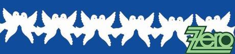 Girlanda papírová holubičky 5,5 m - bílé,