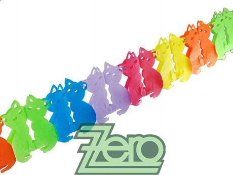 Girlanda papírová KOČKY 3 m - barevné,
