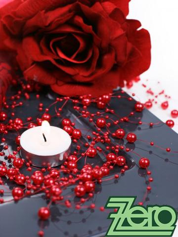 Girlanda z perel 5 ks x 130 cm - červená,