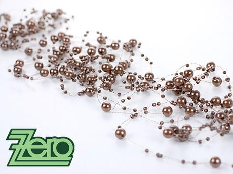 Girlanda z perel 5 ks x 130 cm - čokoládová,