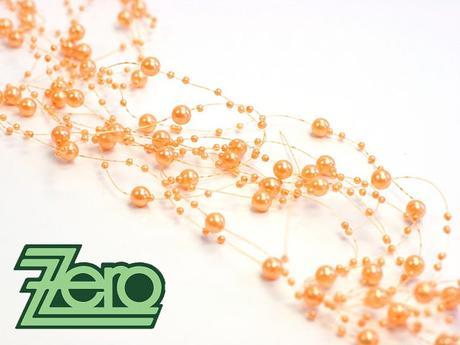 Girlanda z perel 5 ks x 130 cm - pomerančová,