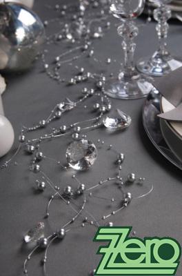 Girlanda z perel 5 ks x 130 cm - stříbrná,