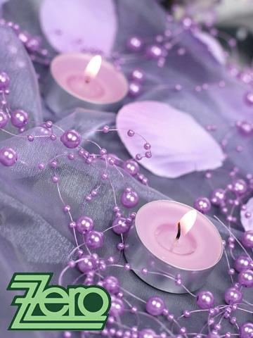 Girlanda z perel 5 ks x 130 cm - sv.fialová (lila),