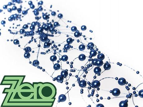 Girlanda z perel 5 ks x 130 cm - tm. modrá,
