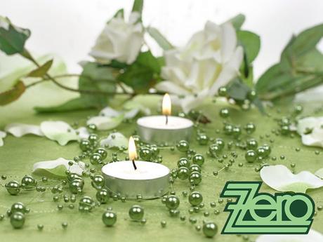 Girlanda z perel 5 ks x 130 cm - tmavě zelená,