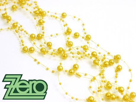 Girlanda z perel 5 ks x 130 cm - žlutá,