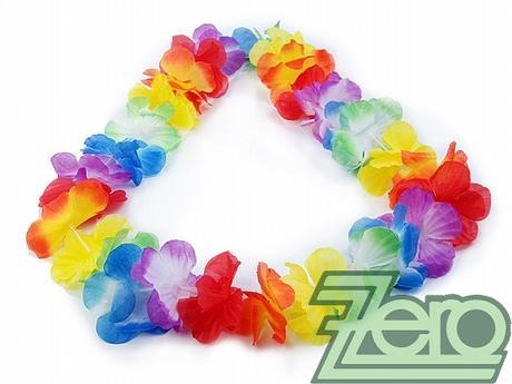 Havajský věnec 90 cm - barevný,