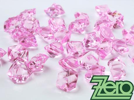 Kamínky v imitaci křišťálu 25 mm (50 ks) - růžové,