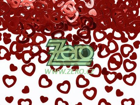 """Konfety kovové """"srdce"""" - červené,"""