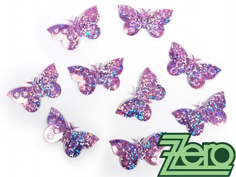 Konfety motýlci - světle růžová,