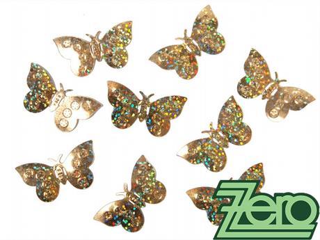 Konfety motýlci - zlaté,