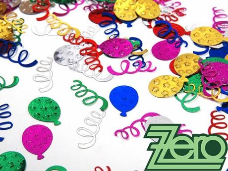 Konfety party balónky a spirály  - mix barev,