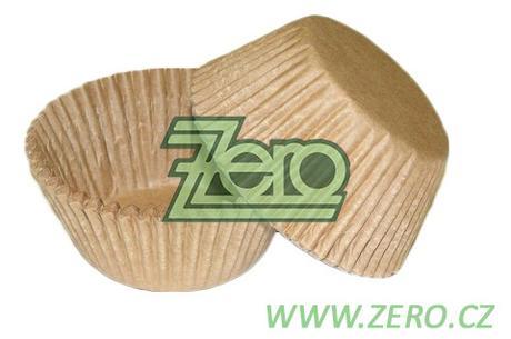 Košíčky na muffiny 50x35 mm (34 ks) - přírodní ,