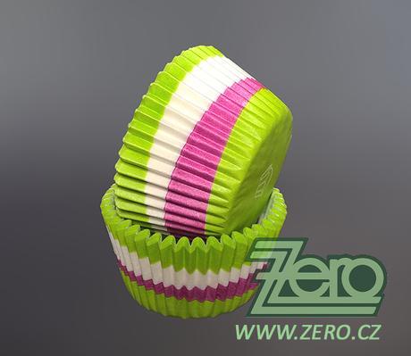 """Košíčky na muffiny """"Meloun"""" 50x35mm (36ks)-zelené,"""