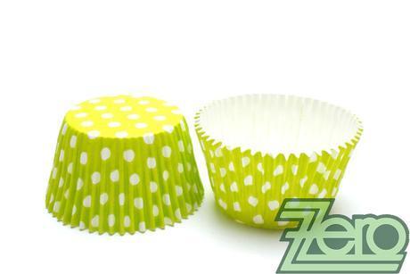 """Košíčky na muffiny """"PUNTÍK"""" 51x38mm (30ks)-zelená,"""