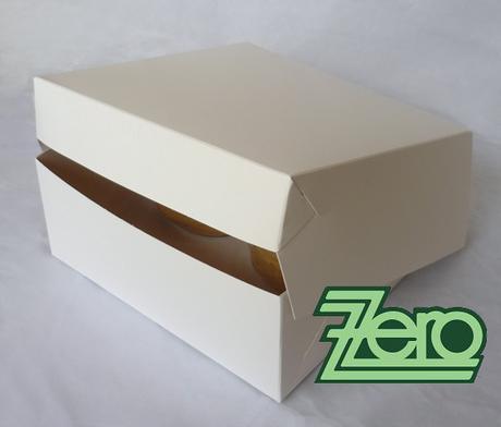 Krabice papírová dortová 22 x 22 cm - bílá,