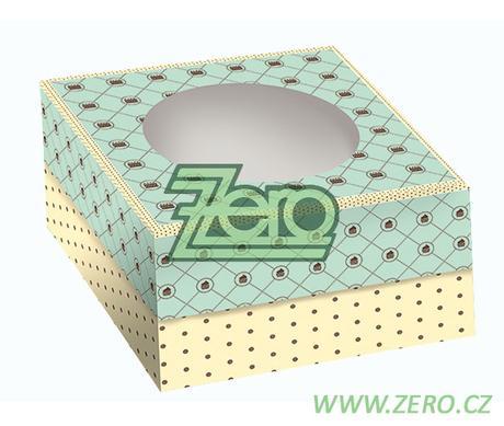 Krabička papírová dortová 32x32 cm s tiskem 2dílná,