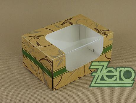 Krabička papírová s okýnkem a tiskem 16,5x11x8 cm,