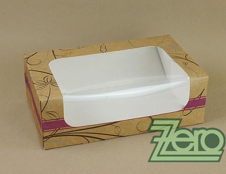 Krabička papírová s okýnkem a tiskem 25x15x8 cm,